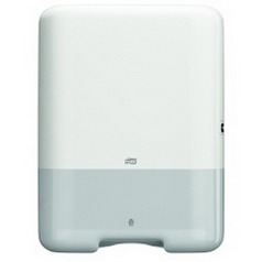 Tork towel dispenser ELEVATION H3, Material: Plastic, colour: white, for ZZ fold.