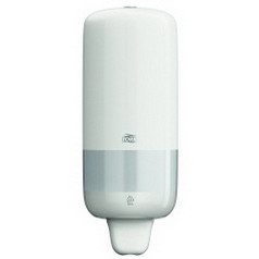 Tork soap dispenser ELEVATION S1, Material: Plastic, colour: white, contents: 1,000 ml.