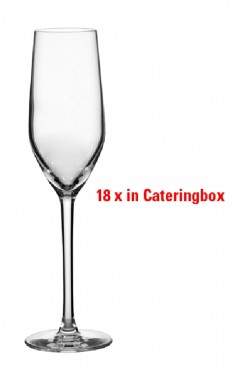 18 champagne glasses MINERAL Arcoroc in catering b contents: 0.16 litre, filling mark at 0.1 ltr, Height: 224 mm, diameter: 55 mm-