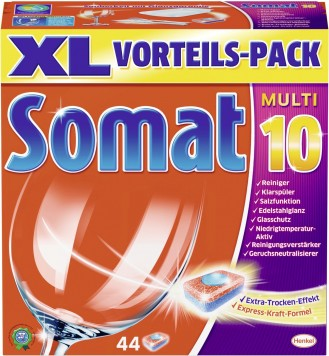 SOMAT tabs MULTI 10, Volume: 54 pieces, XXL economy pack, for the dishwasher.