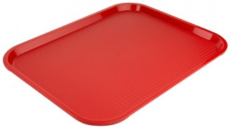 Tray MODERN 45 x 35cm  Colour: red stacking notches, limited anti-slip effect