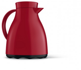 Vacuum flask EASY CLEAN, volume: 1 litre, from Emsa, colour: red, dishwasher safe, height: 220 mm