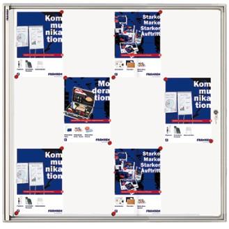 Franken Schaukasten X-tra! Line® 96 x 98 x 3,5 cm  (B x H x T) 12 x DIN A4 Aluminium/Kunststoff  silbereloxiert