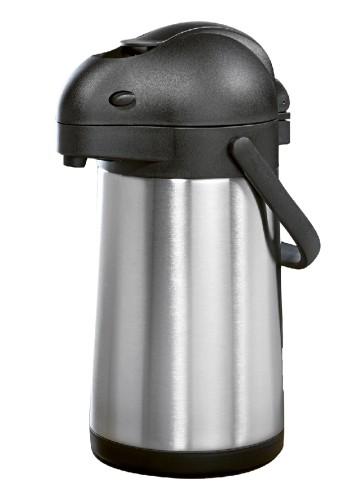 Pump vacuum pot / pump dispenser STREAM,  contents: 1.9 litre made of double-walled stainles height: 32.7 cm, diameter: 15 cm.