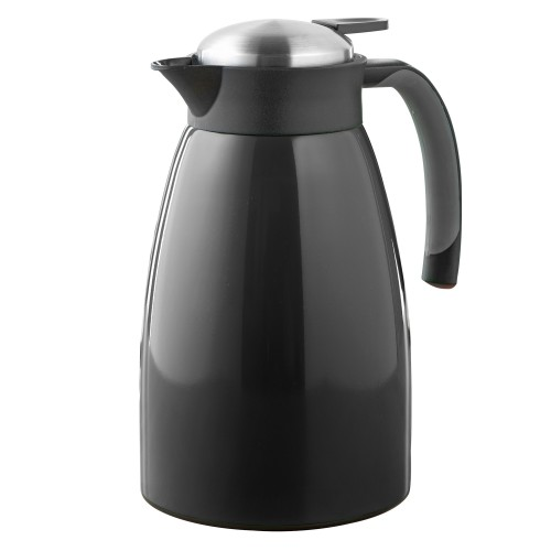 vaccum jug Glace, capacity 1,5 Liter double walled stainless steel, black laquered in color box