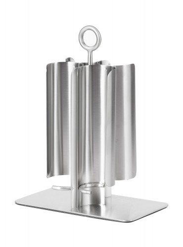Milk container dispenser MAXI,  Material: Stainless steel 18/10, Depth: 180 mm, width: 100 mm, height: 240 mm.