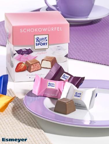 RITTER SPORT SCHOKOWUERFEL yoghurt 176G, (chocolat Content: 22 pieces  8 g per box, single hygienic packaging