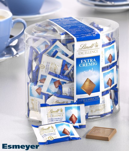 LINDT EXCELLENCE Minis full milk extra creamy, contents: 70 pcs.  5.5g in round tin