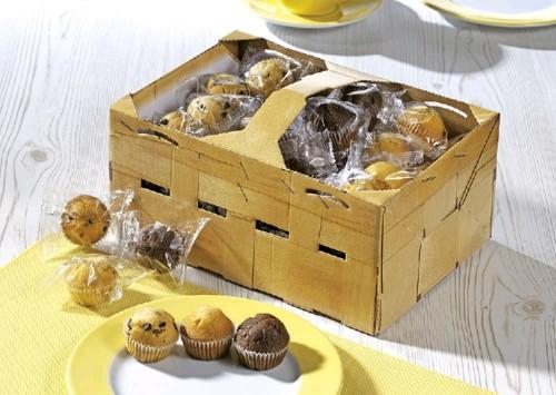 HELLMA Mini Muffins content: 60 pieces  14g in decorative basket box