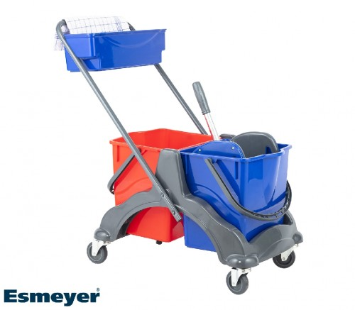 Profi-cleaning trolley made of plastic,  Dimensions: 580 x 400 x 840 cm (L x W x H)