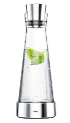 Emsa cooling decanter SLIM FLOW, contents: 1.0 litre,  glass, dishwasher-safe