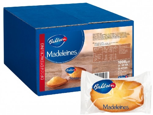 Bahlsen MADELEINE, Content: 48 pieces  21 g per box, Fine Madeira cake without chocolate.