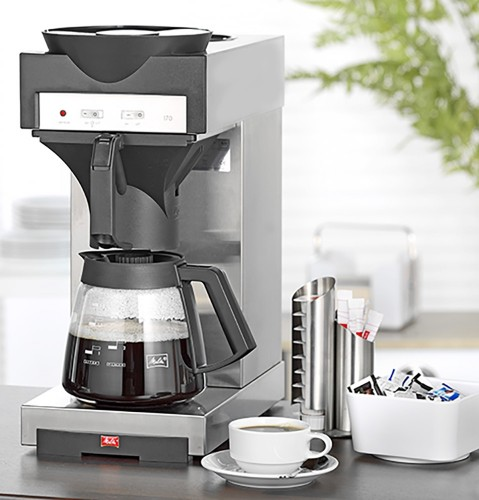 Coffee machine 170 M from Melitta, Volume 1.8 litre, with additional warming plate, incl. 1 glass jug