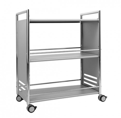 "Serving trolley ""Chicago"", colour: silver/chrome Dimensions: W 700 x D 400 x H 840 mm"