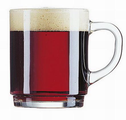 Mug DANIEL, volume: 0.25 litre, Height: 90 mm Diameter 72 mm, Filling mark at 0.2 litre, transparent, stackable.