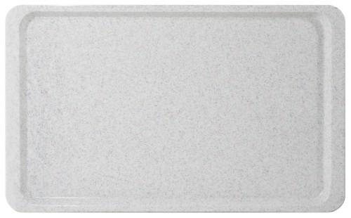 Tray EASY euronorm EN 1/1 granite, made of fibre-glass reinforced polyester resin, Length: 53 cm, width: 37 cm, height: 1.6 cm