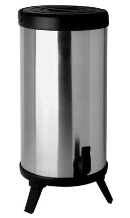 Helios insulated beverage dispenser MAXX  Volume: 10 litre, with transport handle, double-walled, evacuated stainless steel body,