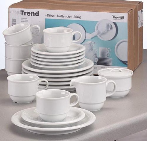 20 part Economy set Thomas TREND, Porcelain, plain white,