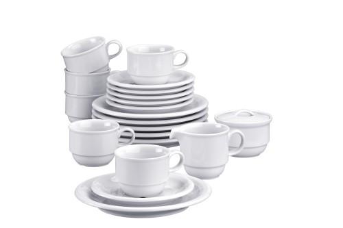 20 part Economy set Thomas TREND, Porcelain, plain white,