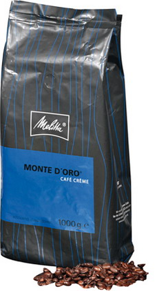 Melitta Schümli - MONTE D`ORO, Contents: 1 kg whole beans, mild and elegant