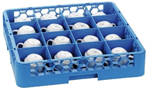 Carlisle basic cup basket, 50 x 50 cm, blue, 16 compartments  11 x 11 cm, height 8 cm