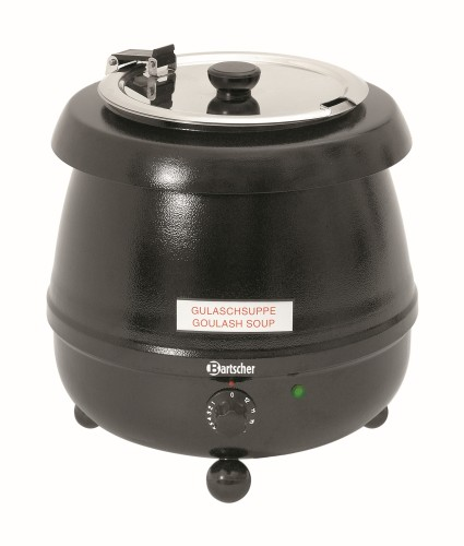 Party pot from Bartscher, volume: 9 litre, Outer pot made of sheet steel, painted black,  Diameter: 345 mm, height: 360 mm,