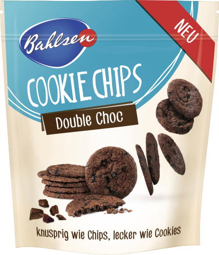Bahlsen Double Choc Cookie Chips 130G