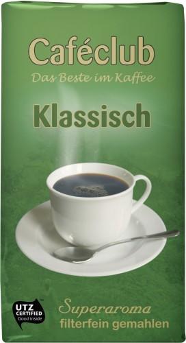 Cafeclub filter coffee Klassisch 500G ground