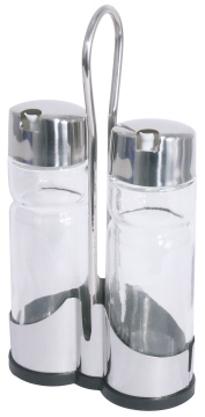 Cruet 3 part NEW LINE vinegar  oil length: 11 cm, width: 5 cm, height: 22 cm