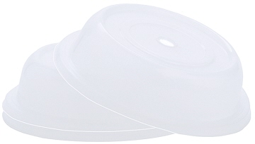 Plate cover, transparent white