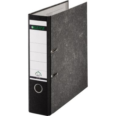 Leitz Ordner 80mm DIN A4 Pappe Material der  Kaschierung außen: Papier schwarz